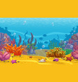 Cartoon seamless underwater background