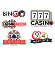 casino gambling club and bingo game isolated icons vector image
