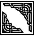 celtic corners vector image vector image
