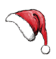 christmas hat2 vector image vector image