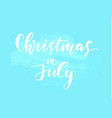 christmas on summer beach in july design vector image