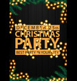 christmas party best party in your city black vector image