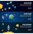 Colored Space Universe Banner Set vector image