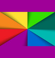 colorful rainbow triangles background vector image