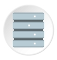 Data storage icon flat style vector image vector image