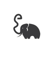 elephant with trunk in the form of a letter e vector image