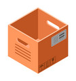 empty cardboard box icon isometric style vector image