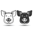 Face Pig vector image vector image