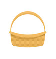 farm basket icon flat style vector image