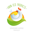 Farm chicken symbol icon vector image vector image