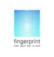 fingerprint logo vector image vector image