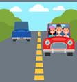 flat design car driving characters car sharing vector image vector image