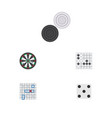 flat icon play set of gomoku backgammon arrow vector image vector image
