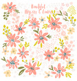 flower petal and leaves collection vector image vector image