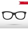Glasses black icon and jpg Flat style vector image vector image