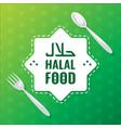 halal food label vector image vector image