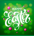 happy easter lettering card modern calligraphy vector image vector image