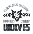 Head Wolf - North American ornamental style vector image vector image