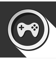 icon - game pad with shadow vector image