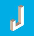 isometric letter j vector image