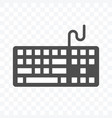 keyboard icon isolated on transparent background vector image
