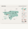 map guinea-bissau high detailed country vector image vector image