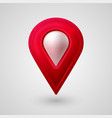 map location pointer 3d arrow navigation icon for vector image vector image