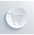 modern light shopping circle icon vector image