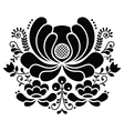 Norwegian folk art black and white pattern vector image vector image