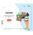 online casino website homepage design vector image