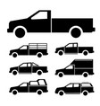 pickup truck icon set vector image vector image