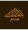 Pizza Slice Handdrawn vector image