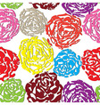 Seamless flower background with colorful rose