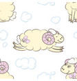 seamless pattern background with sheep vector image vector image