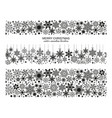seamless snowflake border collection xmas set vector image vector image