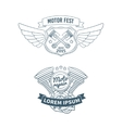 set biker badges vector image