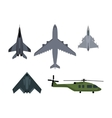 Set of Military Aircraft vector image vector image