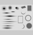 set of round and square shadow effects vector image