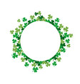 shamrock flower circle frame vector image