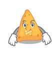 silent nachos mascot cartoon style vector image vector image
