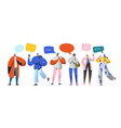 social networking virtual relationships characters vector image
