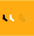 sock it is white icon vector image