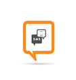 square orange speech bubble with mobile phone and vector image vector image