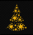 stars christmas tree vector image