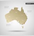 stylized australia map vector image