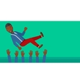 Successful businessman during celebration vector image vector image