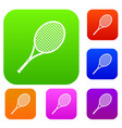 tennis racket set collection vector image vector image