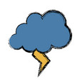 thunder and cloud icon vector image vector image