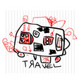 travel and tourism concept cute childrens vector image