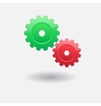 Two gears vector image vector image